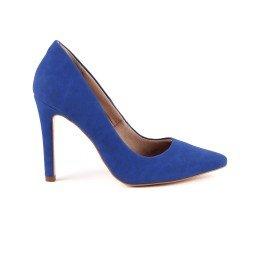 Scarpin Eliz 254-03357 Nobuck Azul Marca Paula Brazil