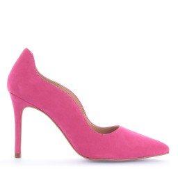 Scarpin Anandra Nobuck Rosa Pink Marca Paula Brazil