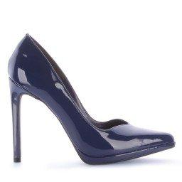 Scarpin Naila 475-04500 Verniz Azul Marca Di Valentini