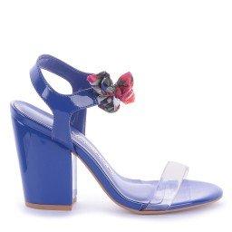Sandália Vinil Rozini 541-05166 Verniz Azul Marca Di Valentini