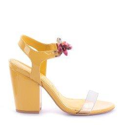 Sandália Vinil Rozini 541-05166 Verniz Amarelo Marca Di Valentini