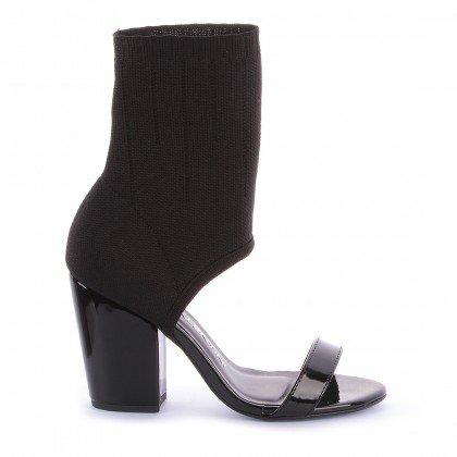 Sock Sandal Gio 541-05251 Verniz Preto marca di valentini