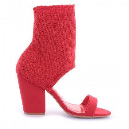 Sock Sandal Gio 541-05251 Nobuck Vermelho marca Di Valentini