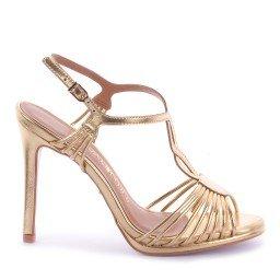 Sandália Taiane 542-04924 Napa Dourado Marca Di Valentini