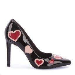 Scarpin Amy Verniz Preto Marca Di Valentini
