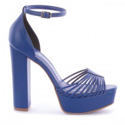 Sandália Lidiane Napa Azul Marca Di Valentini