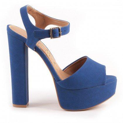 Sandália Louizy 1040-80701 Nobuck Azul Marca Paula Brazil