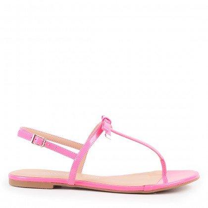 Rasteira Kira 4035-05585 Verniz Neon Rosa Marca Di Valentini