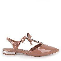 Sapato Selene 6044-07213289 Verniz Nude Marca Paula Brazil
