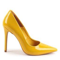 Scarpin Helo 930-80030 Verniz Amarelo marca Paula Brazil