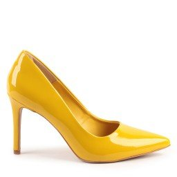 Scarpin July 931-80031 Verniz Amarelo marca Paula Brazil