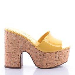 Tamanco Carol 4000-05191 Verniz Amarelo Marca Di Valentini