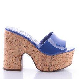 Tamanco Carol 4000-05191 Verniz Azul Marca Di Valentini