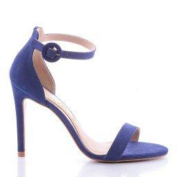Sandália Miriam 1000-80560 Couro Azul Marca Paula Brazil