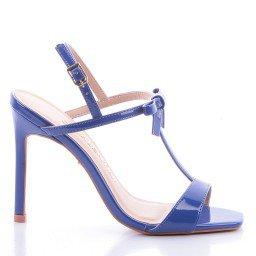 Sandália Ivete 496-04610 Verniz Azul Marca Di Valentini