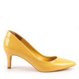 Scarpin Edna 488-04558 Verniz Amarelo marca Paula Brazil
