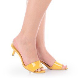 Tamanco Francine 4029-05402 Verniz Amarelo Marca Di Valentini