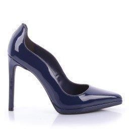 Scarpin Elda 475-04502 Verniz Azul Marca Di Valentini