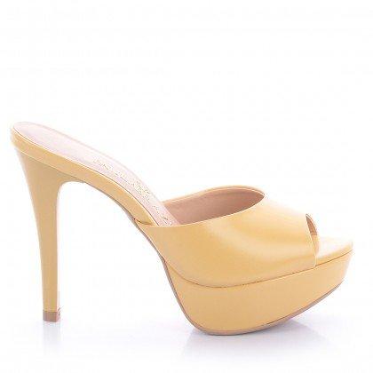 Tamanco Jolie 4085-05682 Napa Amarelo Marca Paula Brazil