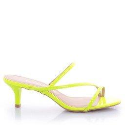Mule Jenifer 4050-05703 Verniz Neon Verde Marca Di Valentini