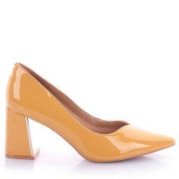 Scarpin Camile 4033-05418 Verniz Amarelo Marca Di Valentini