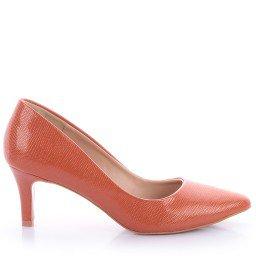 Scarpin Edna 488-04558 Napa Laranja Marca Di Valentini