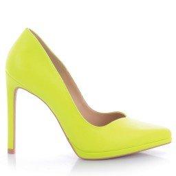 Scarpin Naila 4006-05219 Napa Neon Verde Marca Paula Brazil