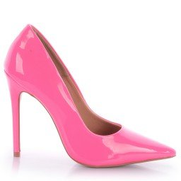 Scarpin Tayne 1053-80799 Verniz Neon Rosa Marca L'atelier