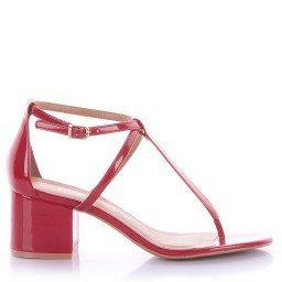 Sandália Tiana 4024-05630 Verniz Vermelho Marca Di Valentini