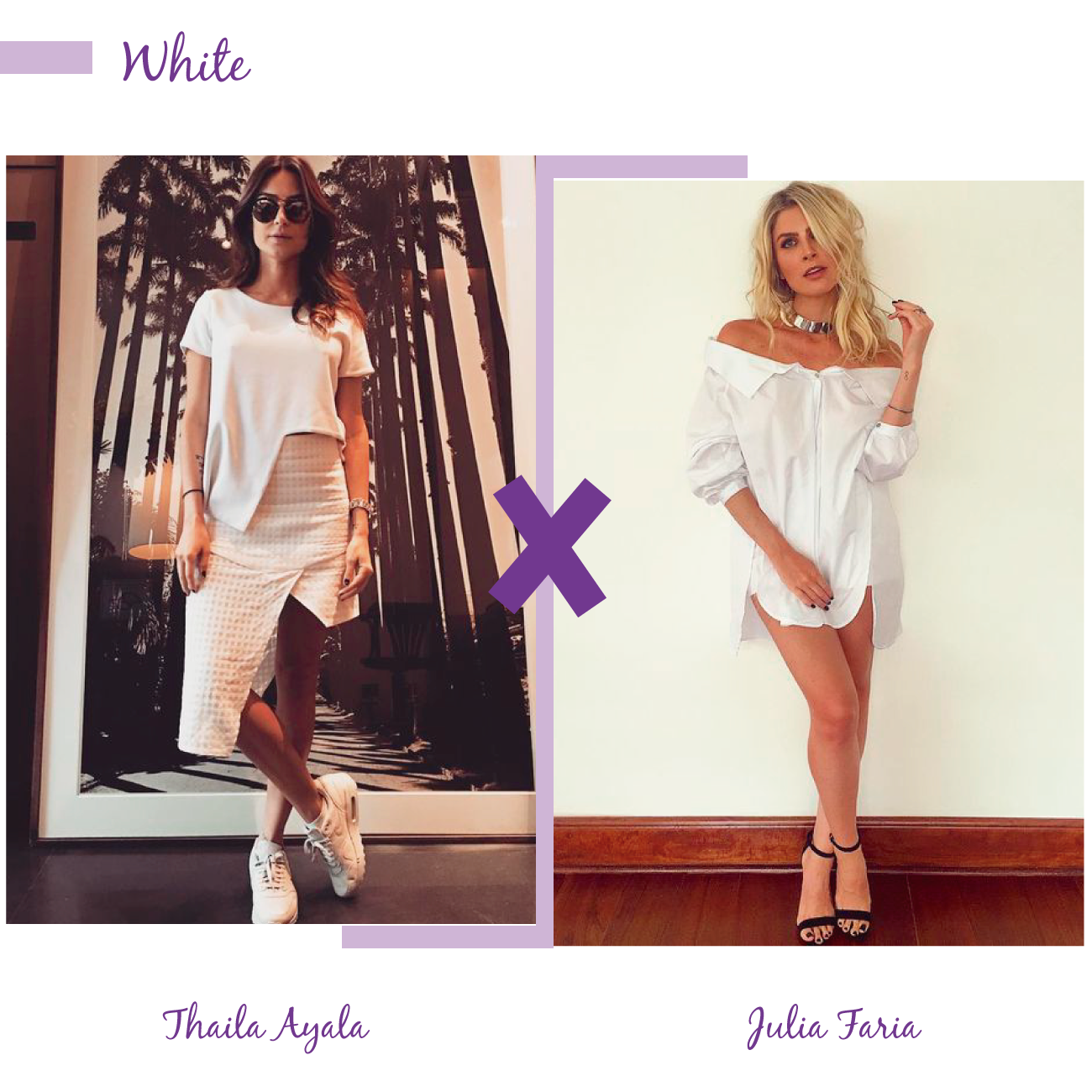 thaila ayala e julia faria look branco