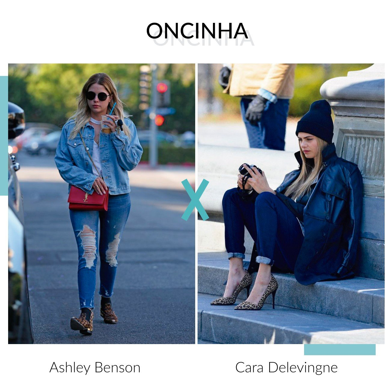 oncinha ashley benson e cara delevingne