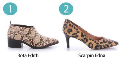 bota de cobra e scarpin oncinha