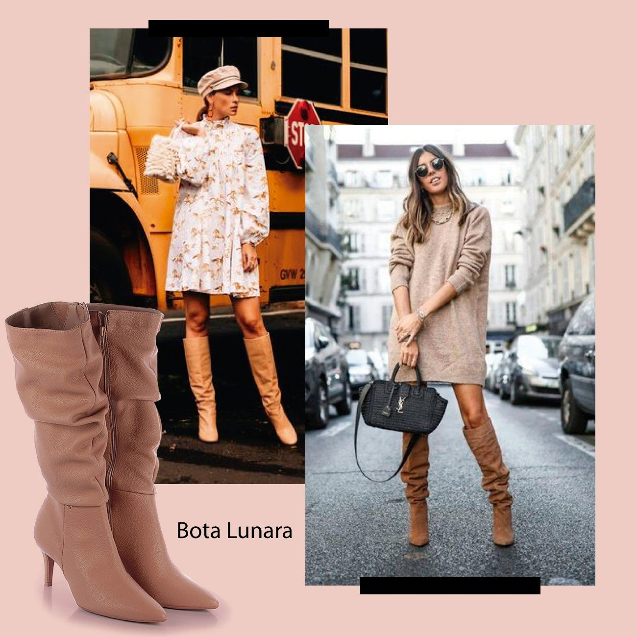 slouch boot nude