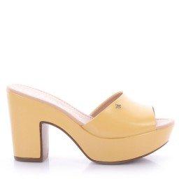 Tamanco Leandra 552-04962 Napa Amarelo Marca Di Valentini
