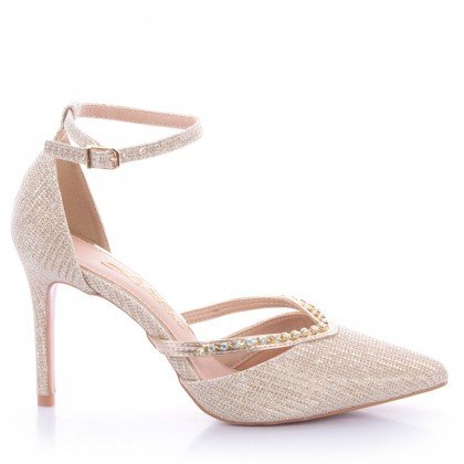Sapato Elizi 1064-80947 Tecido Dourado Marca L'atelier