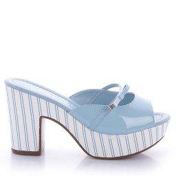 Tamanco Nivea 595-05284 Verniz Azul Marca Di Valentini