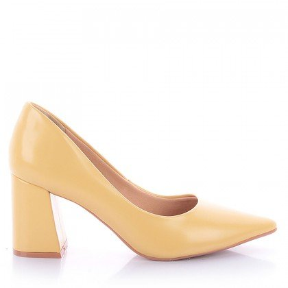 Scarpin Valda 1065-80878 Napa Amarelo Marca Improviso