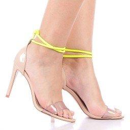 Sandália Mint 1061-80978 Verniz Nude Marca Paula Brazil