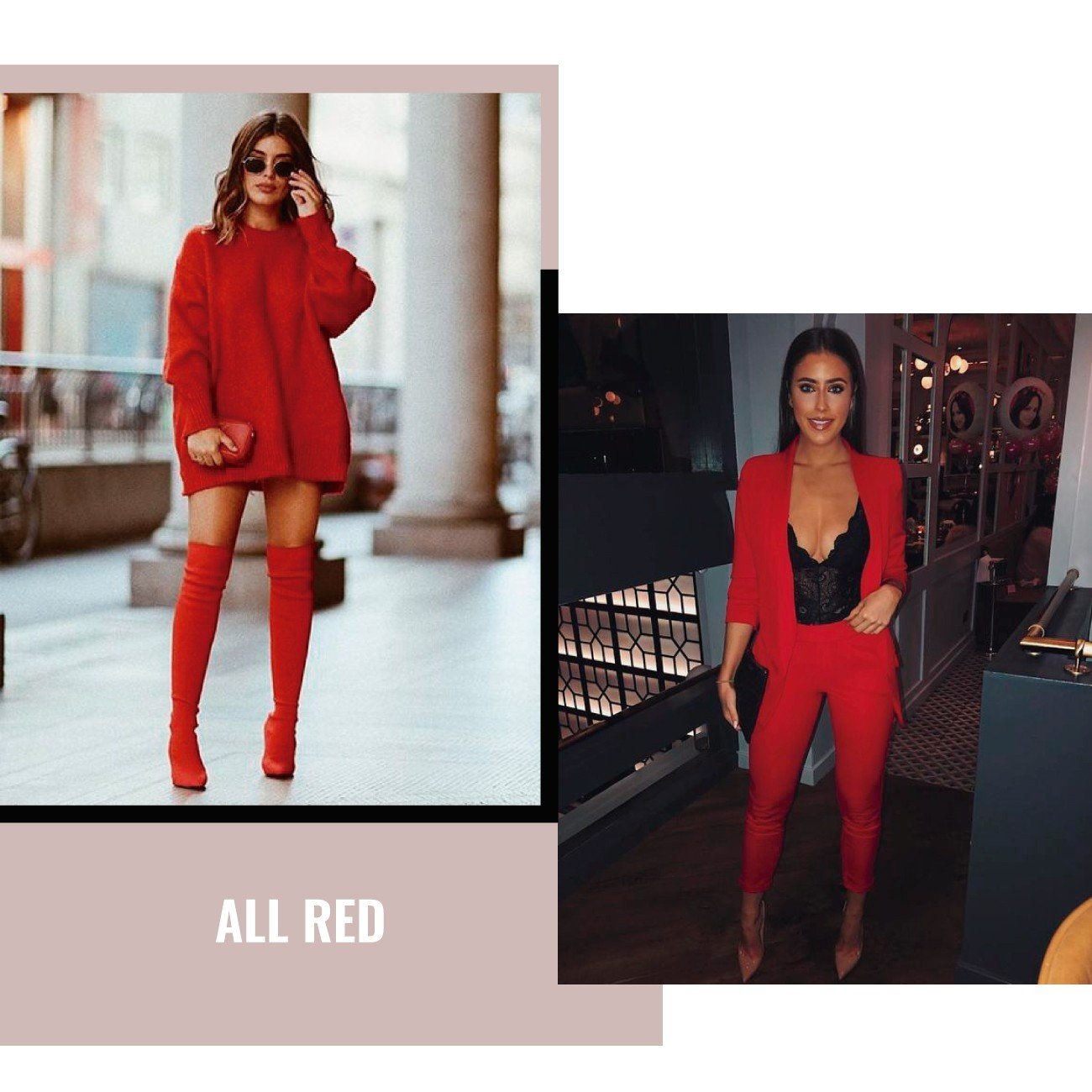 all red looks