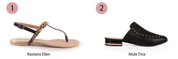 sandlia rasteira e mule