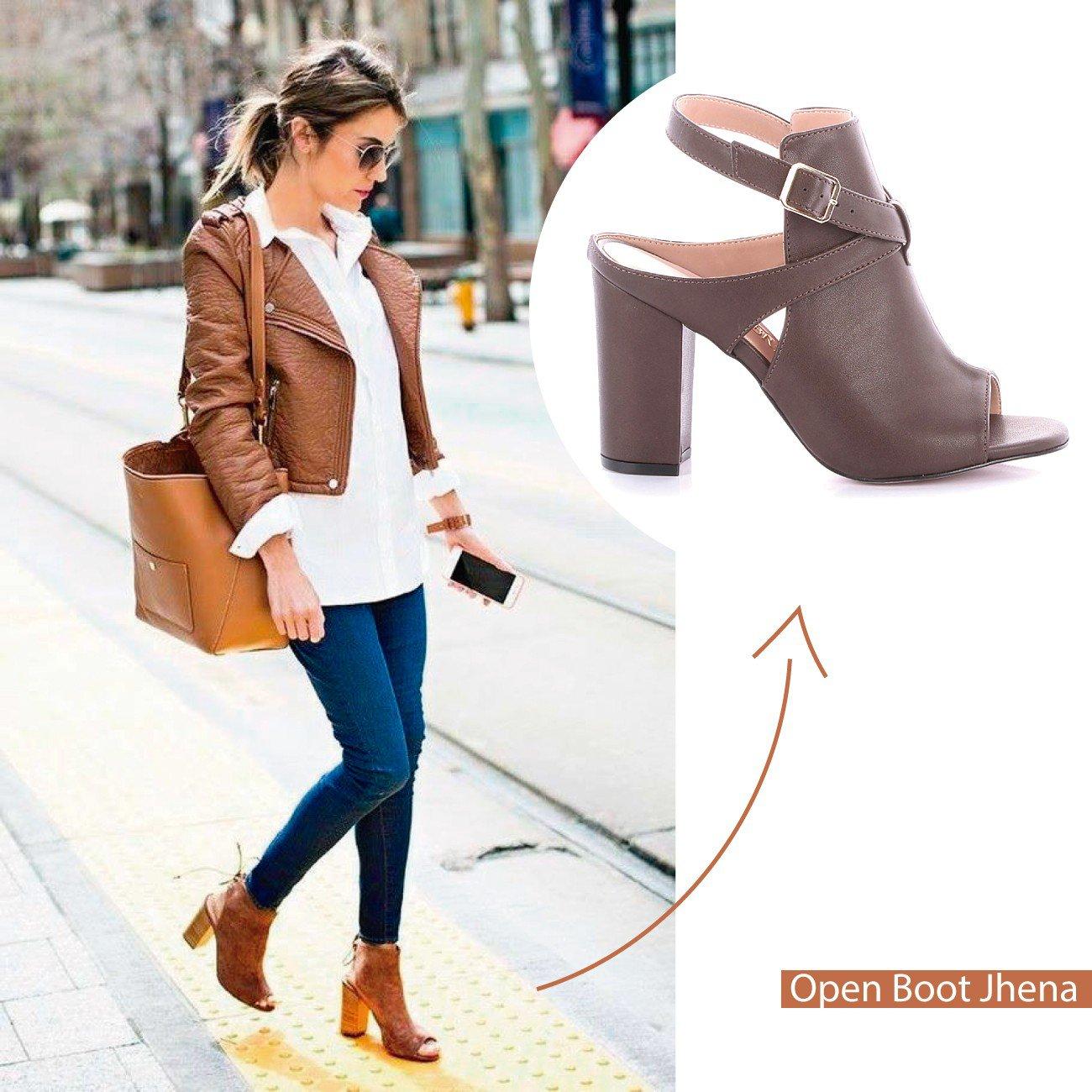 look open boot marrom