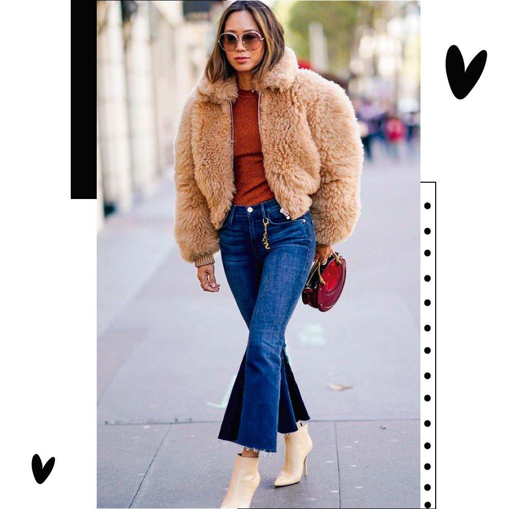 Aimee Song casaco de pelo fake