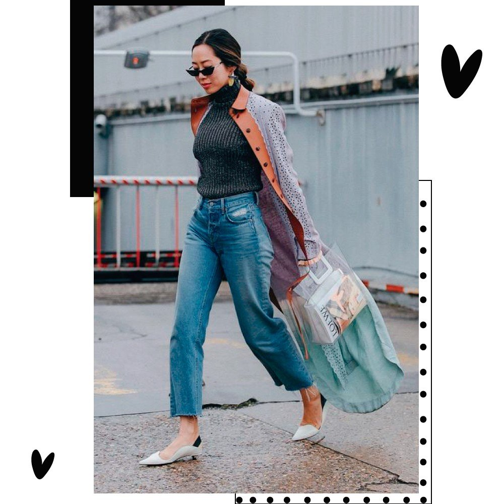 Aimee Song look com jeans