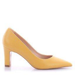 Scarpin Judite 107-1028 Napa Amarelo Marca Paula Brazil