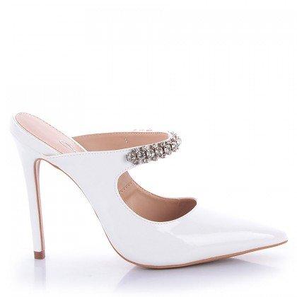 Mule Carlita 1078-80934 Verniz Branco Marca L'atelier