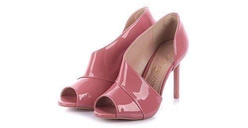peep toe meri verniz rosa marca paula brazil