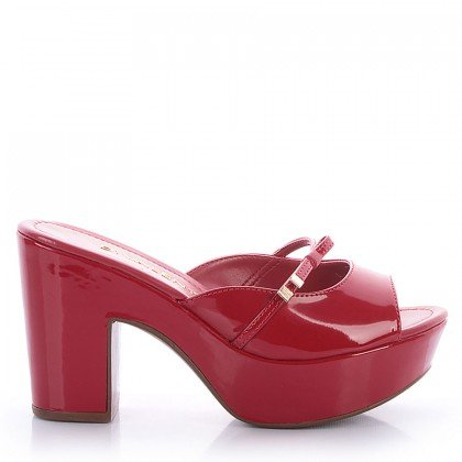 Tamanco Nivea 552-05284 Verniz Vermelho Marca Di Valentini