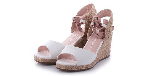 sandalia millie napa branco marca di valentini