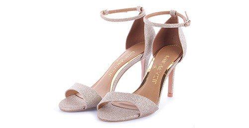 sandalia silvana glitter nude marca paula brazil