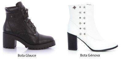 Bota preta e bota branca